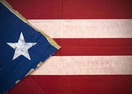 Flagge von Puerto Rico aus Wellpappe Standard-Bild - 5119085