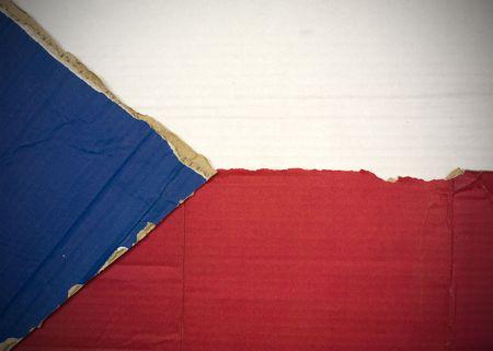 Flag of Czech Republic, Czechoslovakia made with corrugated cardboard photo
