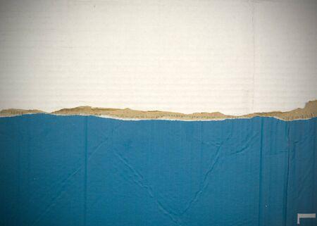 Flag of San Marino made with corrugated cardboard Stock Photo