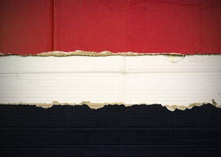 Flag of Syria, Iraq, Egypt, Yemen made with corrugated cardboard Stock Photo
