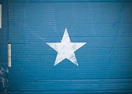 Flag of Somalia made with corrugated cardboard