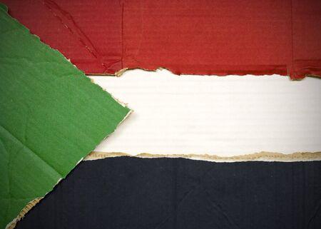 Flagge von Sudan aus Wellpappe Standard-Bild - 5119076