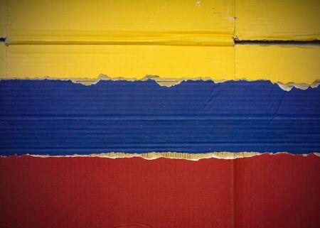Flag of Venezuela made with corrugated cardboard Stock Photo