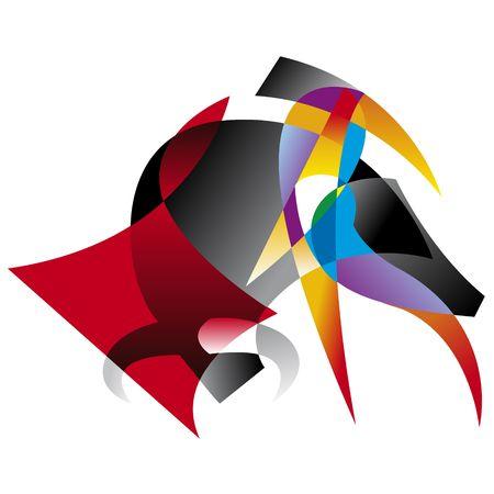 Abstract illustration of spanish bullfighter.
