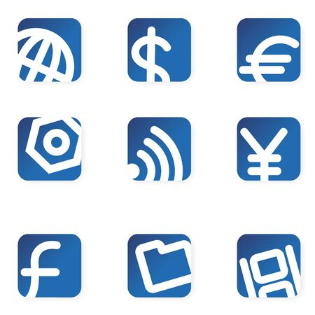 Professional icons for your designs. Minimalist style. Illustration