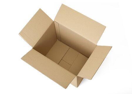 Wellpappen Karton Box auf weißen Hintergrund isoliert. Standard-Bild - 6913049