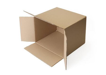 Corrugated cardboard box isolated on white background. Stock Photo - 6913051
