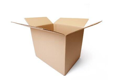 Wellpappen Karton Box auf weißen Hintergrund isoliert. Standard-Bild - 6913098