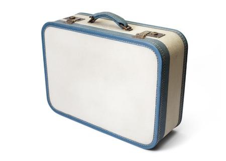 Retro reiste Koffer isoliert auf weiß. Standard-Bild - 6913100
