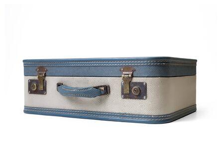 Retro traveled suitcase isolated on white. Stock Photo - 6913102