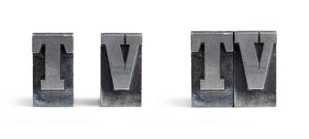 Isolierte Drucker blockiert Buchstaben bilden das Wort-Fernsehen. Standard-Bild - 6913123