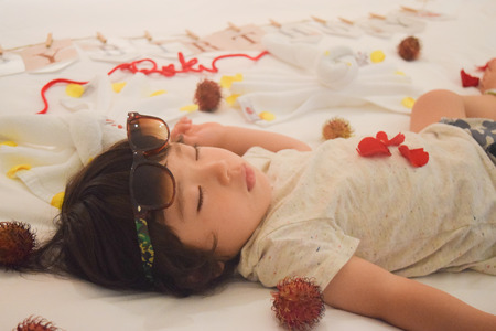 happy birth day: sleeping happy birth day baby dreaming something sweet thing
