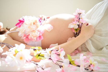 Maternity Photo of Women who are pregnant Stock Photo