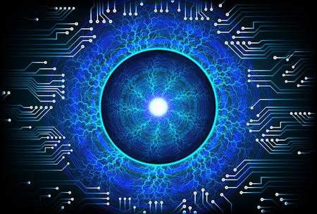Fond de concept de cybersécurité oeil bleu