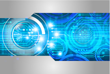 binary circuit board future technology, blue cyber security concept background, abstract hi speed digital internet.motion move blur. pixel vector Иллюстрация