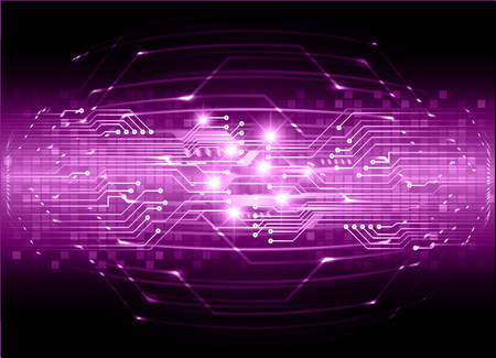 binary circuit board future technology, purple cyber security concept background, abstract hi speed digital internet.motion move blur. pixel vector