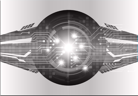 binary circuit board future technology, black eye cyber security concept background, abstract hi speed digital internet.motion move blur. pixel vector