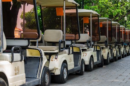There are golf car parking
