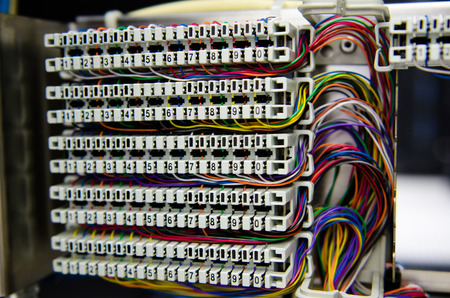 Telephone switchboard panel photo