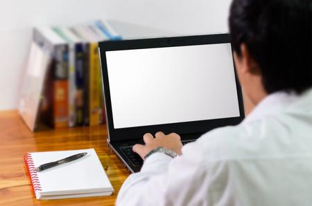 monitor de computadora: Hombre de negocios que trabajan en equipo
