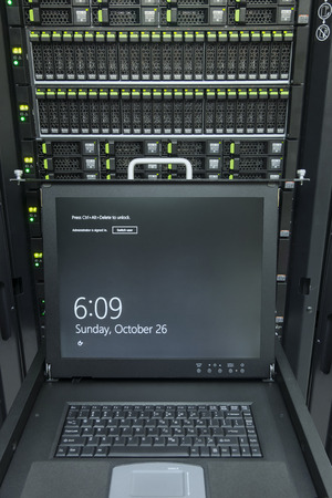 monitor console and server in data center