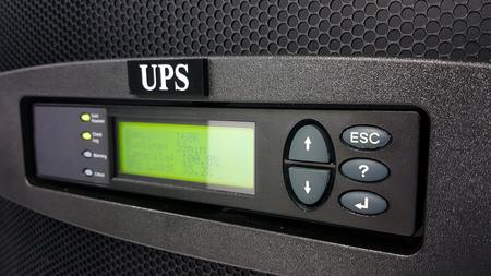digital control panel power supply for data center Foto de archivo