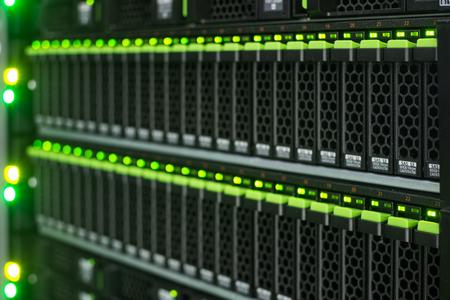 web portal: Array disk storage in data center