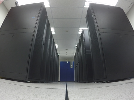 wide angle view data center