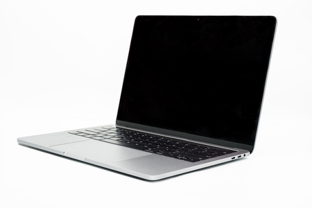 slim modern laptop isolated on white background