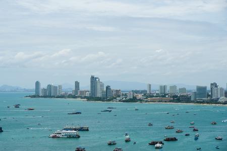 Top view Pattaya beach city, Thailand