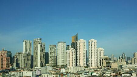Arial view city scape bangkok, Thailand