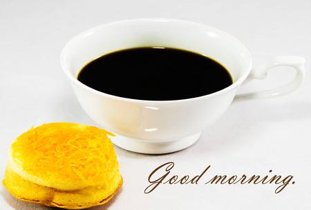 good: Good morning. And good feeling. Stock Photo