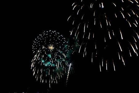 Fireworks with many colors.