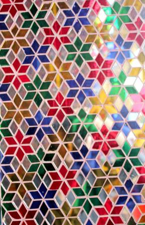 Detailed designs of beautiful glass wall designs. Banco de Imagens