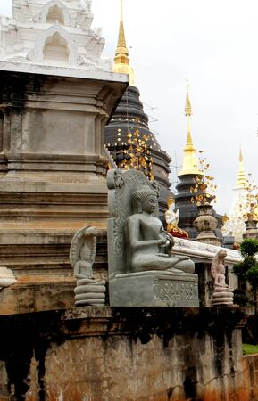 Old temple pagoda Buddha statue in thailand.
