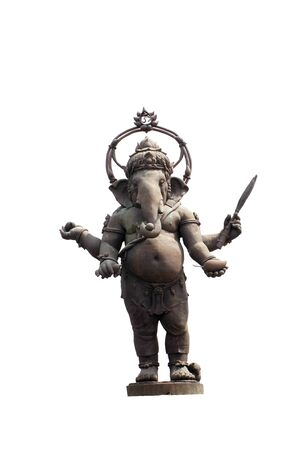 Ganesh stand on a white background. Banco de Imagens