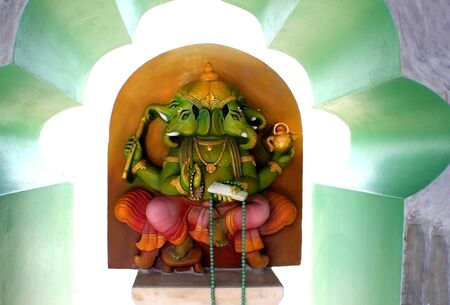 Ganesha, the art of Hinduism.. Banco de Imagens