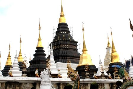 Beautiful pagoda in the temple of Thailand. Banco de Imagens