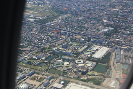 flew: The aircraft flew over the city