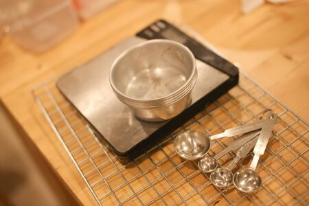 measuring cup: Cooking Utensils, Measuring cup, weighing machine and spoons