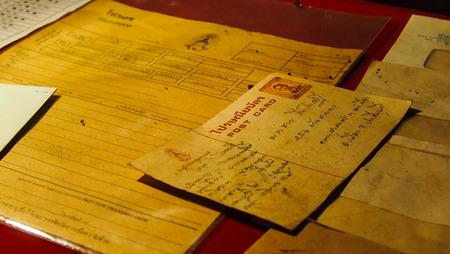 telegrama: la comunicación de edad (cartas, tarjetas postales, telegramas) Foto de archivo