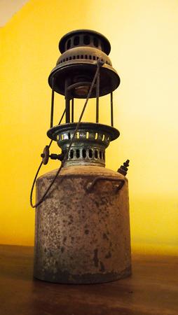 vintage lamp, Lit hurricane lamp, vintage lantern