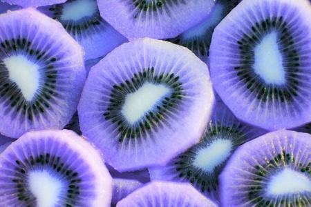 purple kiwi slide Stock Photo