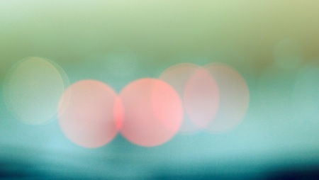 shop window: Abstract colorful bokeh blue tone, on street, Color light background