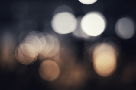 abtract blur bokeh lights, black and white background Stock Photo