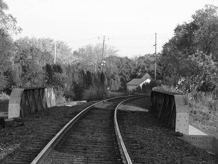 black bridge: Black and white train bridge Stock Photo