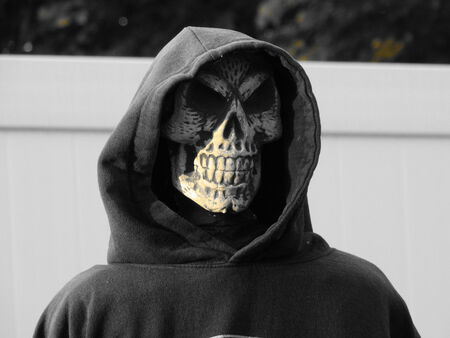 hoody: skeleton hoody face