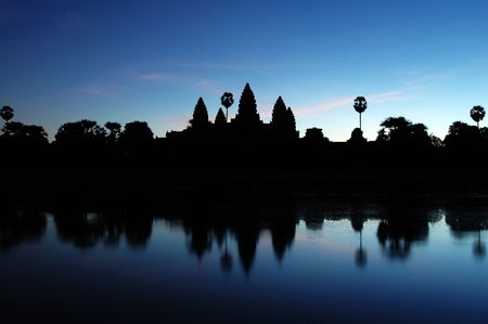 relics: Photo of Ankgor Wat at dawn time in Cambodia