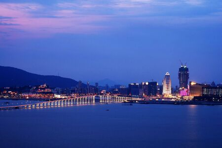 A night view of Macau city from Taipa island Stock Photo - 779447