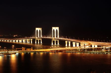 wan: The third bridge of Macau, Sai Wan bridge Stock Photo